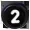 číslo 2 čierne