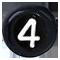 číslo 4 čierne