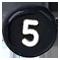 číslo 5 čierne