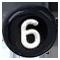 číslo 6 čierne