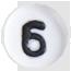 číslo 6 biele