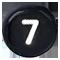 číslo 7 čierne