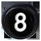 číslo 8 čierne