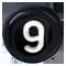 číslo 9 čierne