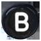B čierne