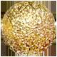 zlatá trblietavá