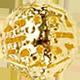 zlatý kovový