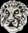 strieborný lev