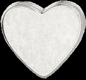 strieborné srdce